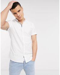 River Island Белая Оксфордская Рубашка С Вышивкой -белый
