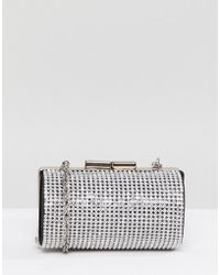 ASOS - Diamonte Micro Clutch Bag With Detachable Strap - Lyst