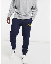 Polo Ralph Lauren Leg Logo Fleece Cuffed sweatpants - Blue