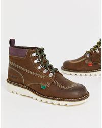 Kickers - Светло-коричневые Замшевые Походные Ботинки - Lyst