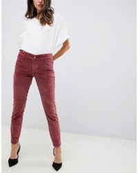 DL1961 Margaux Mid Rise Instasculpt Ankle Skinny Jean - Red