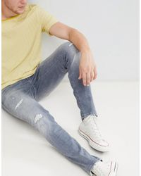 3a14b7e3fb4 Jack & Jones - Intelligence Glenn Slim Jeans In Black Wash - Lyst
