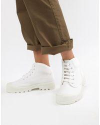 ASOS - Dissolve Lace Up Boots - Lyst