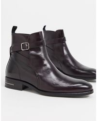 Reiss Dorst Ankle Boots - Red