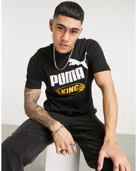 PUMA King Oversized Logo T-shirt - Black