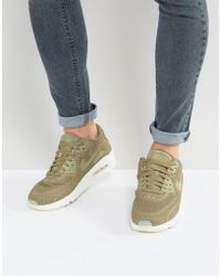 Nike - Air Max 90 Ultra Breathe Trainers In Green 898010-200 - Lyst