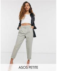 ASOS ASOS DESIGN Petite - Pantalon chino avec poches cargo - Sauge - Vert