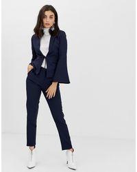 UNIQUE21 Tailored Ankle Grazer Pants - Blue