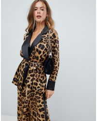 Missguided - Leopard And Stripe Tailored Blazer - Lyst