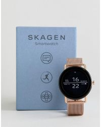 Skagen Connected Skt5002 Falster Mesh Display Smart Watch In Rose Gold - Metallic