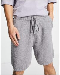 Mennace Co-ord Knitted Shorts - Grey