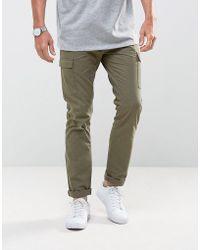 Bellfield - Slim Fit Cargo Trousers - Lyst