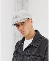 ASOS – Bakerboy-Mütze mit verdrehtem Design - Grau