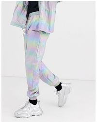 Sixth June Holographic Reflective Track Pant - Metallic