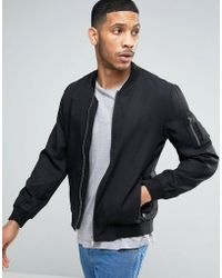 Casual Friday - Ma1 Bomber Jacket In Clean Look - Lyst