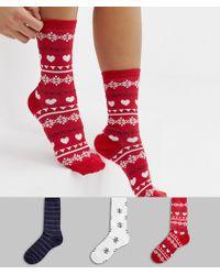 Boux Avenue - 3 Pack Fairisle Socks Gift Set - Lyst