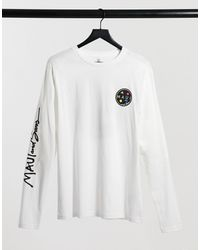 Maui & Sons Classic Cookie Oversize Longsleeve T-shirt - White