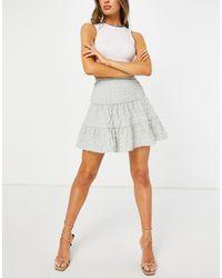 ASOS Tiered Mini Skirt - Grey