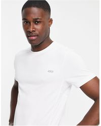 ASOS 4505 T-shirt da allenamento bianca ad asciugatura rapida con logo - Bianco
