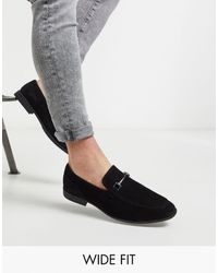 ASOS Wide Fit Loafers - Black