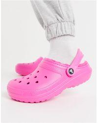 Crocs™ Розовые Классические Клоги С Ворсовой Подкладкой -розовый