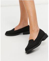New Look Черные Стеганые Лоферы -черный Цвет