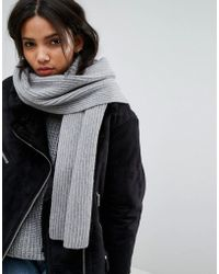 Weekday - Ribbed Long Scarf - Lyst