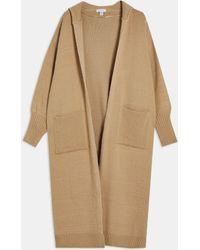 TOPSHOP Longline Hooded Cardigan - Multicolor
