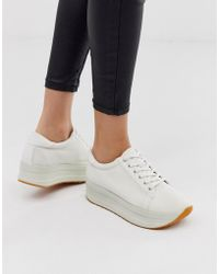 5040d7b23584db Vagabond Zoe Leather Trainers In White in White - Lyst