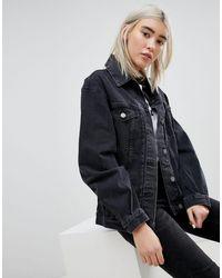 ASOS Черная Выбеленная Джинсовая Куртка - Черный