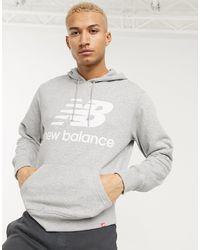 New Balance - Chest Logo Hoodie - Lyst