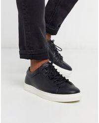Jack & Jones Черные Кожаные Кроссовки -черный - Многоцветный