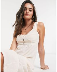 ASOS Midi Sundress With Button Front - Pink