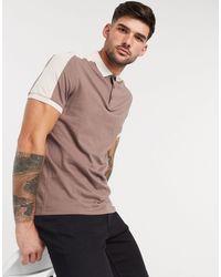 ASOS Organic Polo Shirt With Contrast Shoulder Panel - Multicolour