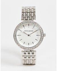 Steve Madden – farbene Armbanduhr für Damen - Mettallic
