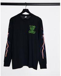 Reebok Classics x Ghostbusters - Maglietta a maniche lunghe nera - Nero