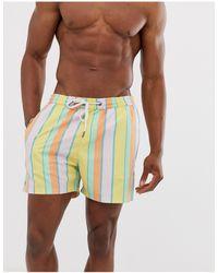 Another Influence Stripe Print Swim Shorts - Pink