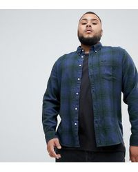 Lee Jeans - Plus Button Down Shirt Army Green - Lyst