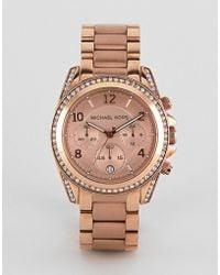 Michael Kors - Mk5263 Blair Bracelet Watch In Rose Gold - Lyst