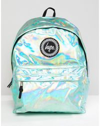 Hype Backpack In Green Holographic