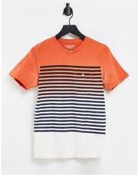 Jack & Jones T-shirt à rayures - Dégradé rouge