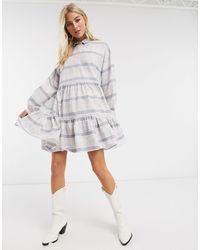 ONLY - Свободное Платье-рубашка -мульти - Lyst
