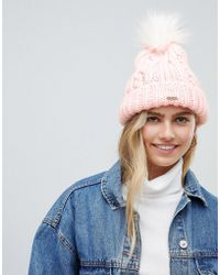 Hollister - Cable Knit Beanie With Pom Pom - Lyst