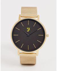 Farah Золотистые Часы С Сетчатым Браслетом -золотой - Многоцветный