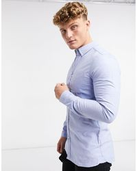 Dr. Denim Pete Long Sleeve Shirt - Blue