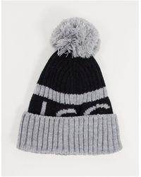 Nicce London Bonnet à logo - et gris - Noir