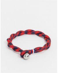 Tommy Hilfiger Woven Bracelet - Red