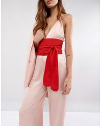 ASOS - Red Fabric Obi Belt - Lyst