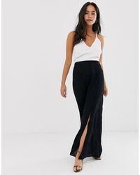 ASOS Crinkle Maxi Skirt With Self Covered Buttons - Black