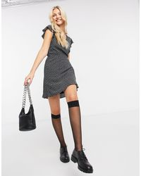 Abercrombie & Fitch Print Wrap Dress - Black